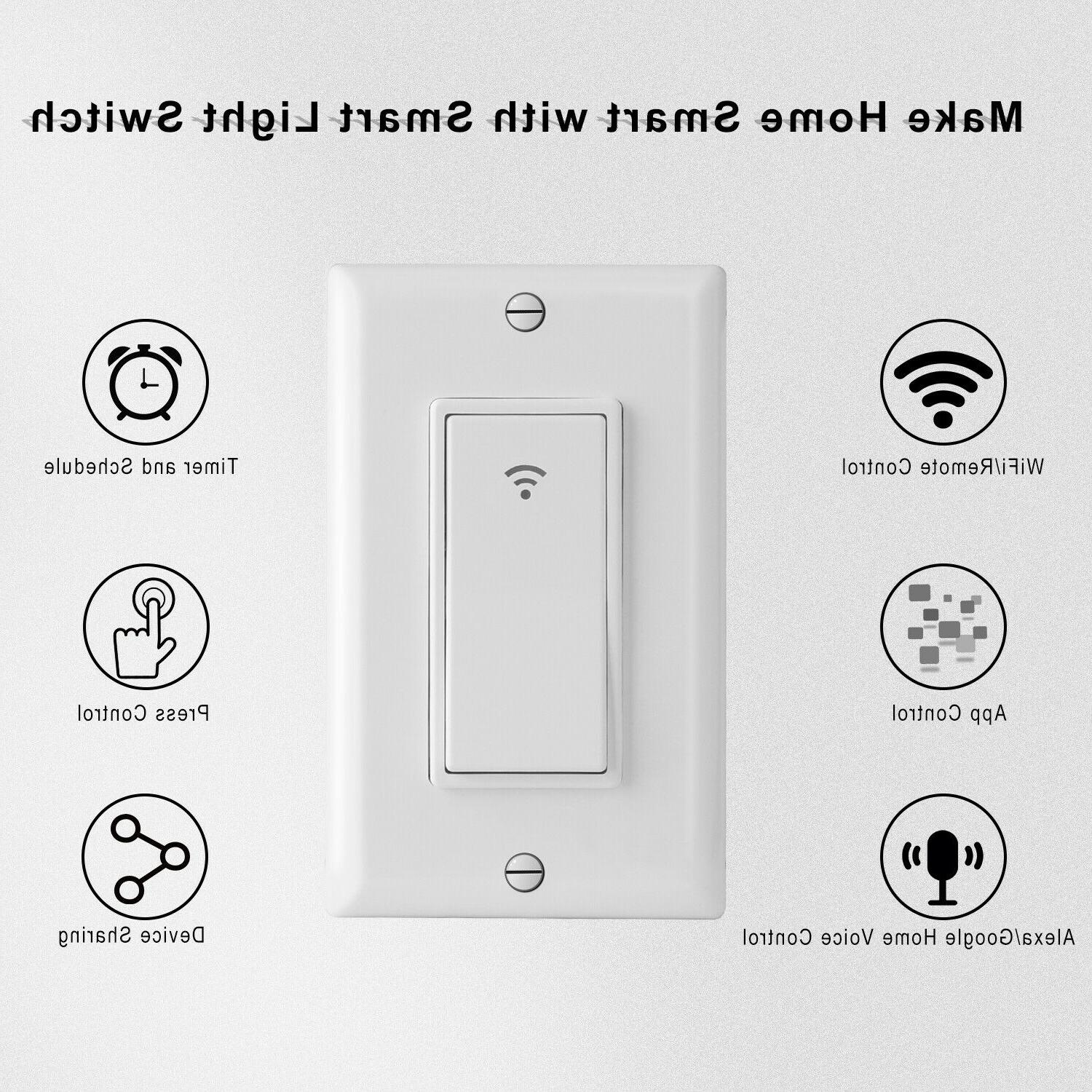 Smart Touch Wall Switch Remote Google IFTTT