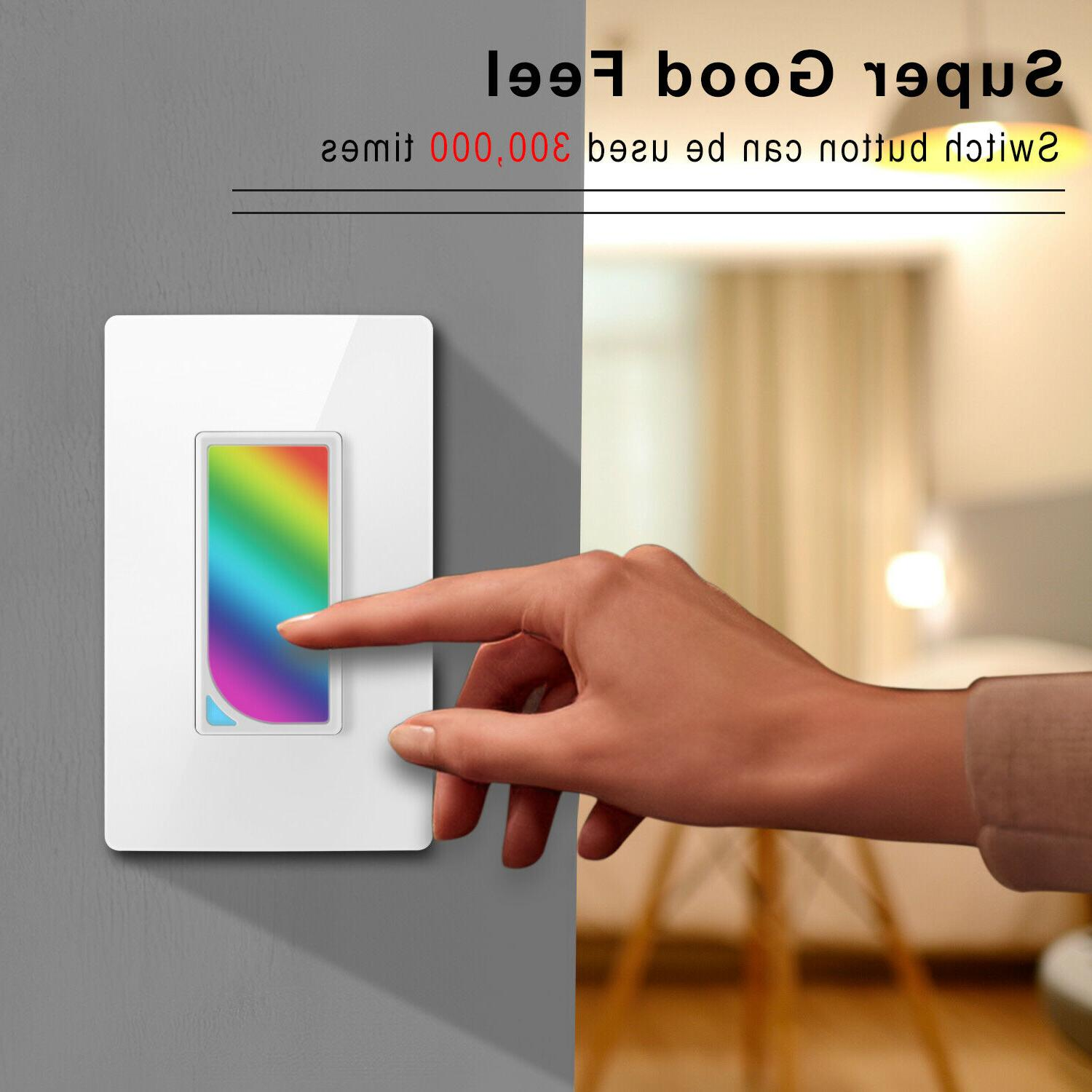 Smart Wall LED Dimmer Light Panel Home