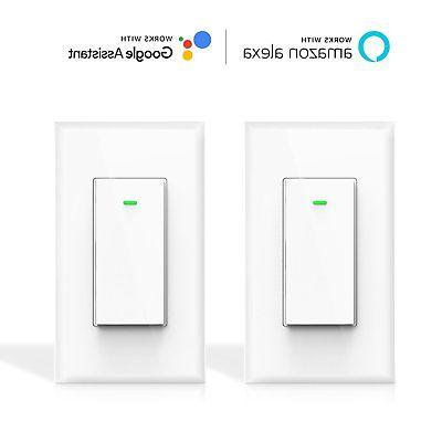 Maxcio Smart Wi-Fi Light Switch, No Hub Required, Works with