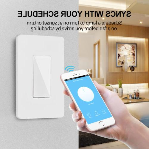 Smart Wi-Fi Wall Switch Remote Work with Google Home