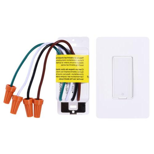 Smart Wi-Fi Wall Light Switch Remote Work with Amazon Google Home