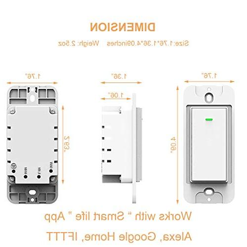 Smart with Home, No Timing Schedule, for 1/2/3/4 Gang Switch Box Micmi