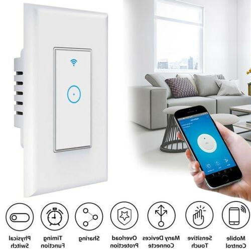Home Smart Wi-Fi Wall Light Switch Remote Control Work with