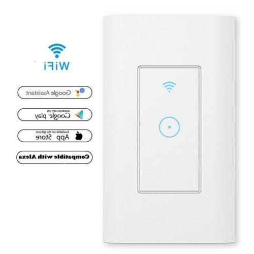 smart wifi light wall switch works