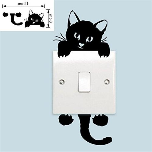 Quartly New Cat Wall Stickers Switch Mural Nursery