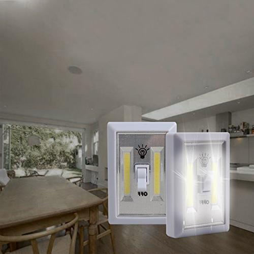 Super Bright Switch-Battery LED Night LED Cordless Light Wireless Mount Under Cabinet,Shed,Kitchen,Garage,Basement and