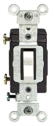 Switch Tog Lighted 15a Wht