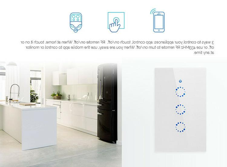 Sonoff 3 Gang Touch Light Switch WiFi APP Remote
