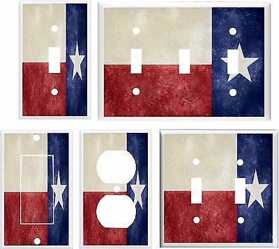 texas state flag light switch cover plate