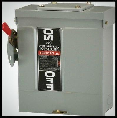 GE TG4322R Fusible Safety Switch, 60A, 240V, 3P, 3-Wire, NEM