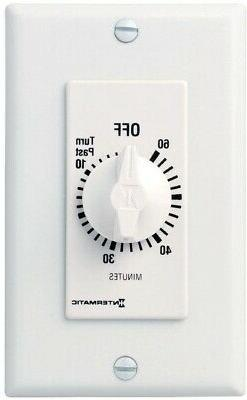 Intermatic Timer, 60 Minute Spring Wound Decorator Timer Whi