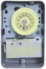 Intermatic Timer, 125V DPST 24Hour Mechanical Time Switch