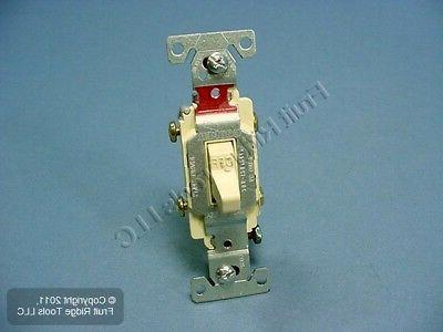 Cooper Wiring Toggle Light Switch 20A Double CS220V