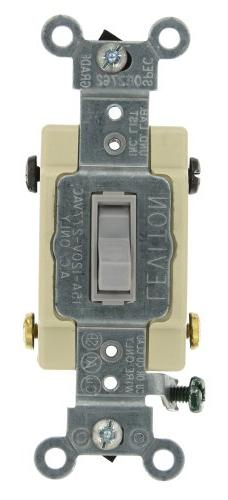 15 Amp 4-Way Toggle Switch Commercial - Gray
