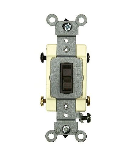 Leviton 54524-2 20 Amp 4-Way Toggle Switch Commercial - Brow