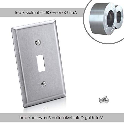 Toggle Switch Metal Wall Switch Cover, Resistant Industrial Material, Listed,