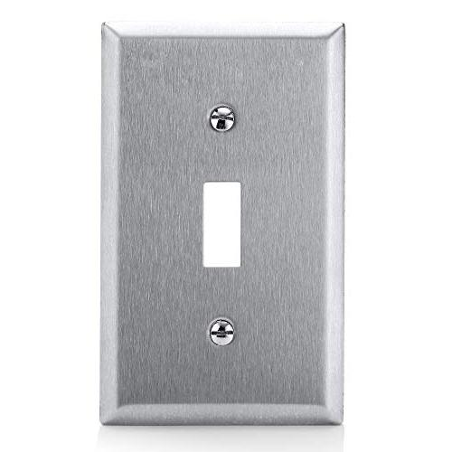 Metal Plate, Gang Switch Cover, Corrosion Resistant Material, UL