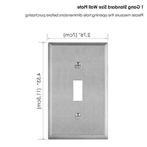 Metal Wall Gang Switch Material, UL Listed,