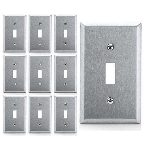 toggle switch metal wall plate