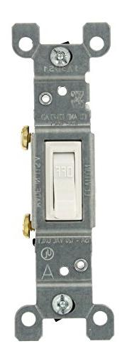 Leviton Toggle Switch Residential 15 Amp 120 V White Csa 10