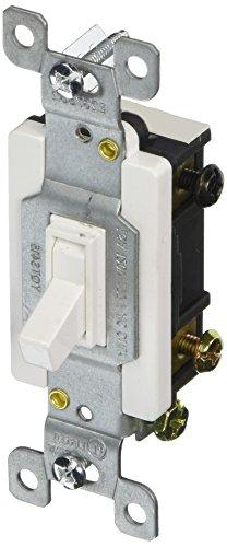 Toggle Switch White 4 Way 15A-120/277V