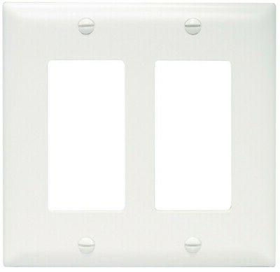 Pass and Seymour TP262-W White Two Gang Decorator Wall Plate