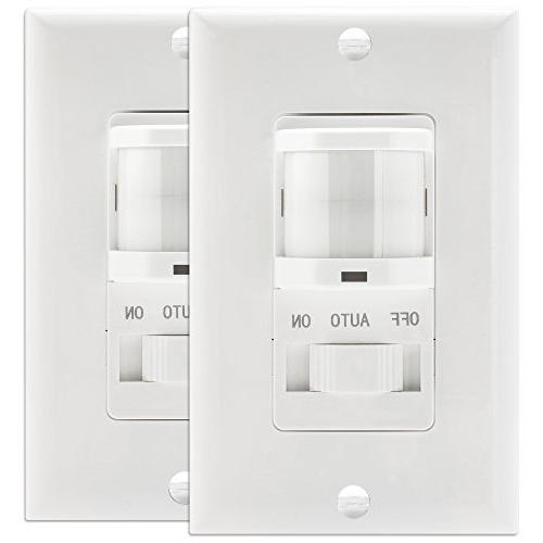 TOPGREENER TSOS5-W Sensor Switch, Occupancy Switch, Motion Sensor On/Off Override, 500W, Pole, NEUTRAL REQUIRED,