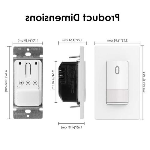 BESTTEN UL Occupancy Motion Sensor Light Switch Passive Infrared