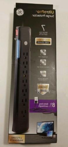 GE UltraPro Surge Protector 7 Outlets 1080 Joules 8ft Extra-