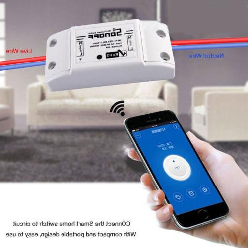 US Sonoff Smart Home Wall Light Wireless Controller Switch