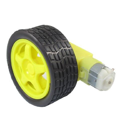 uxcell yellow black tire wheel