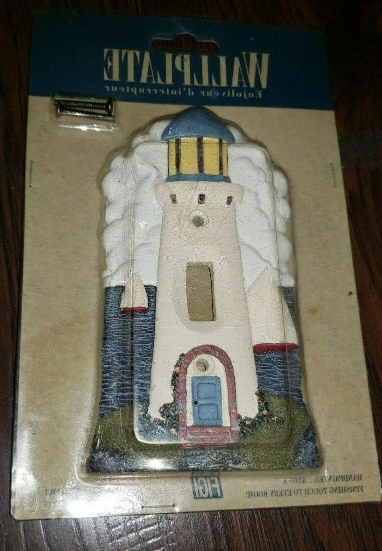 vintage 1994 lighthouse light switch cover plate