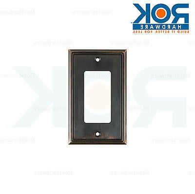 Wall Light Switch Plate Rocker Cover Decorative Brushed Oil-