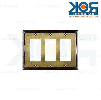 Wall Light Switch Plate Rocker Toggle Cover Traditional Anti