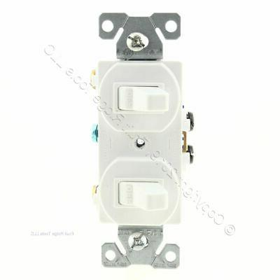white double wall light switch duplex toggle