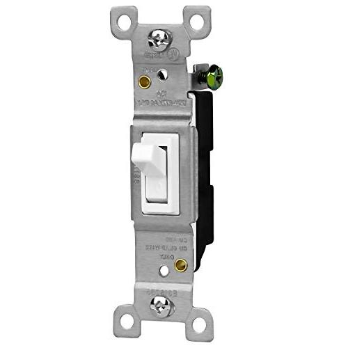 ENERLITES Light Electrical Switch, Single Switches Pack