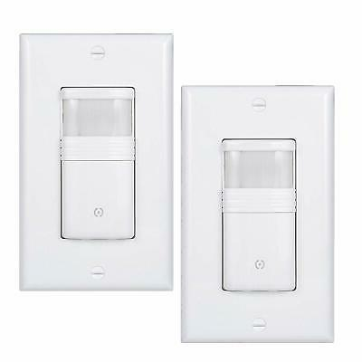 white motion sensor light switch neutral wire