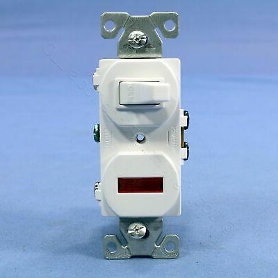 Cooper Wiring 277-W-BOX White Switch/Pilot Light Toggle with