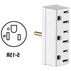 LEVITON White Triple Tap Plug-In Outlet Adapters