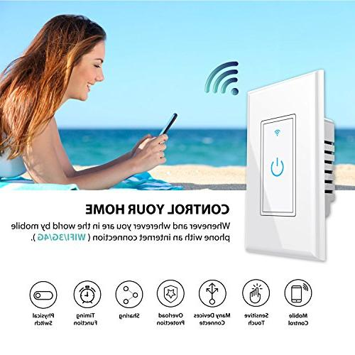 In-Wall,Phone Remote Switch No Hub Function, Fixtures Anywhere,Compatible Amazon Alexa,Overload Protection