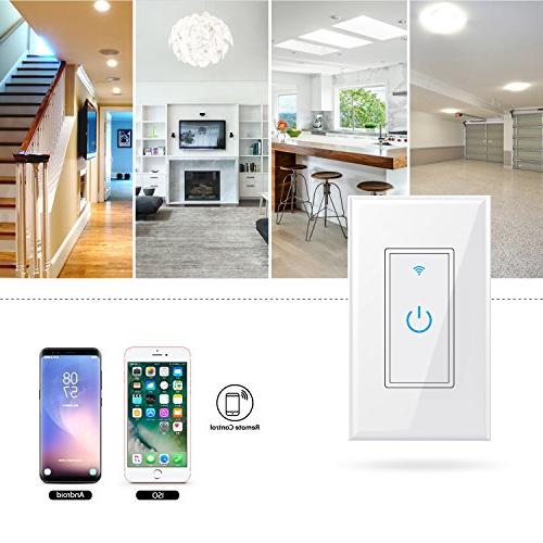 WiFi Light In-Wall,Phone Switch No Function, Automatic Your Fixtures Anywhere,Compatible Amazon Protection 15A