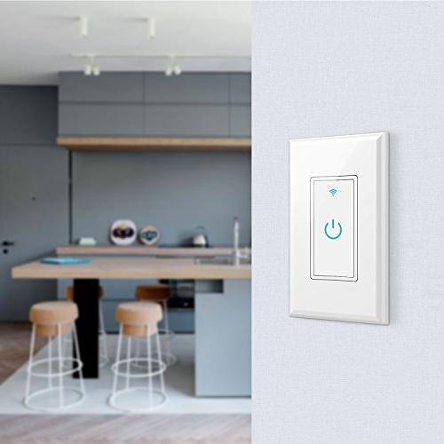 WiFi Smart Switch In-Wall,Phone Remote Switch Hub Function, Your Fixtures From Anywhere,Compatible Amazon