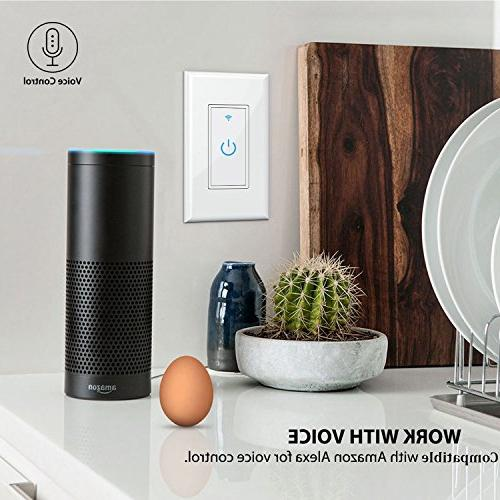 WiFi In-Wall,Phone Remote Function, Automatic Control Your Fixtures Anywhere,Compatible with Amazon Alexa,Overload Protection 15A