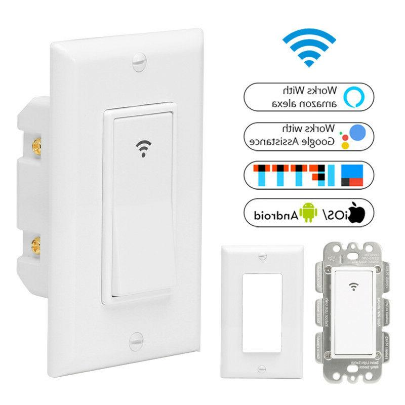 WiFi Smart Light Switch Remote Control with Alexa Home