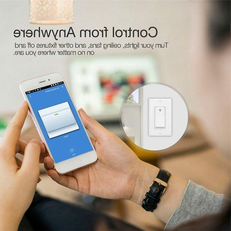 WiFi Smart Switch Control Works with Amazon Alexa Home