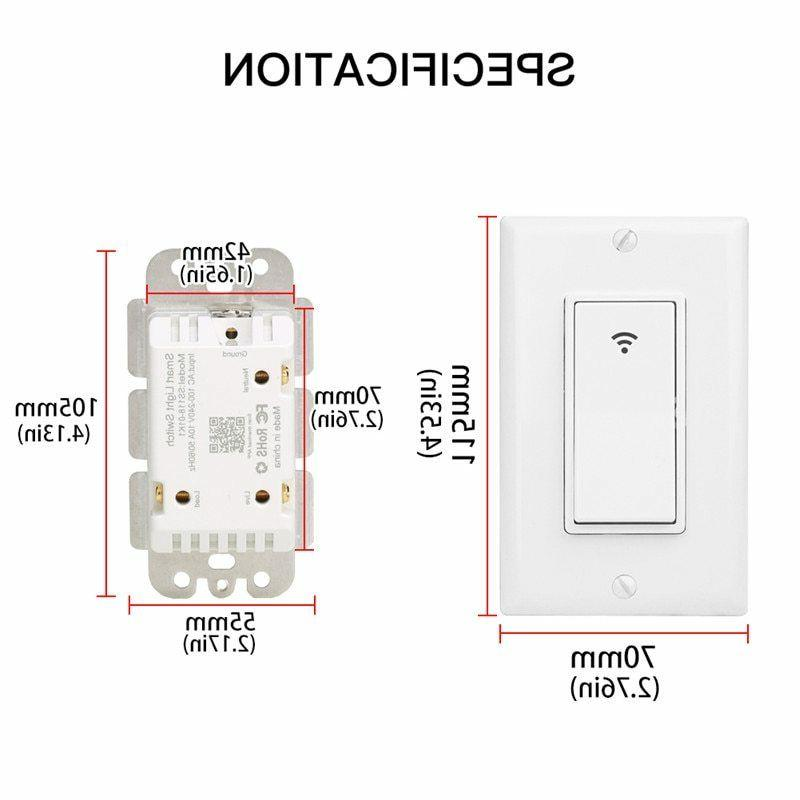 WiFi Smart Switch Remote with Amazon Google Home