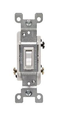 Cooper Wiring 3-way Non Grounding Quiet Toggle Switch