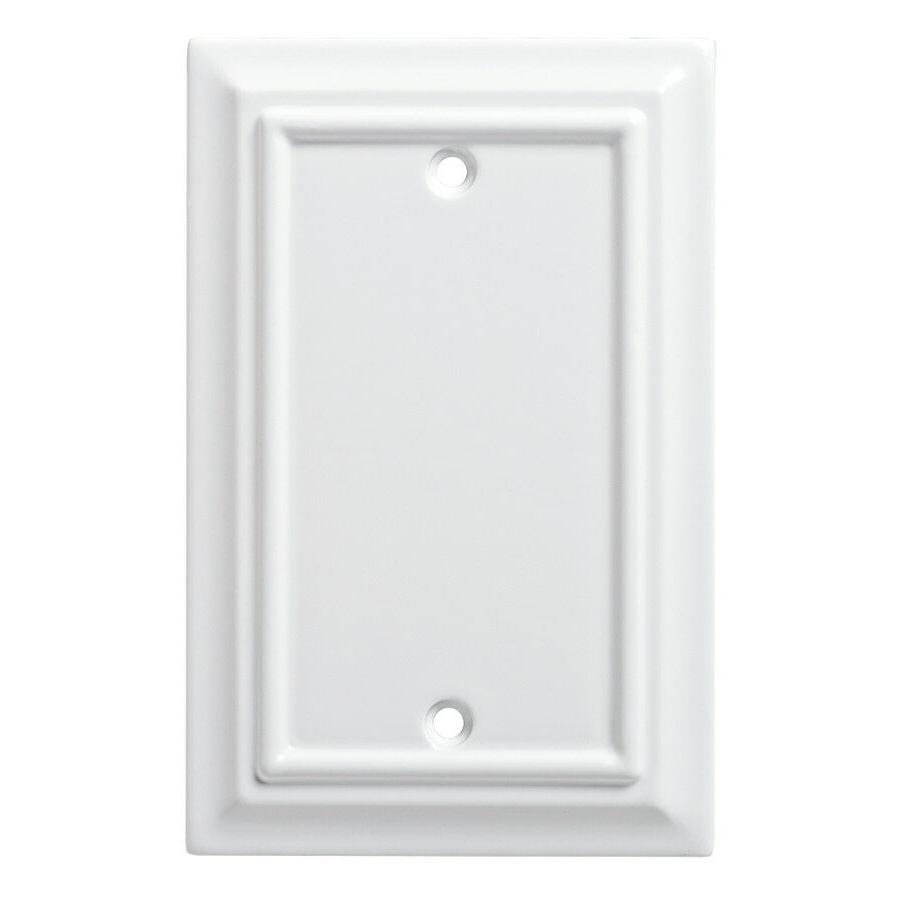 Wood Architectural Single Blank Wall Plate, Wall Lighting, L