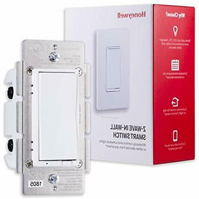 Honeywell Z-Wave Smart Switch, Paddle, Interchangeable & Almond & Range | ZWave Hub Required SmartThings, Wink, Alexa Compatible,