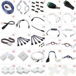 LED Strip Connector Adapter Cable PCB Clip Solderless 3528 5